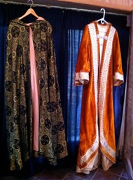 R_Robe belonging to Shakhmah Windrum L_Worthy Matron Robe, Order of the Eastern Star, 1930s - 40s